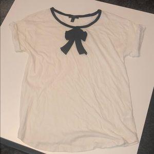 White J. Crew semi formal t-shirt